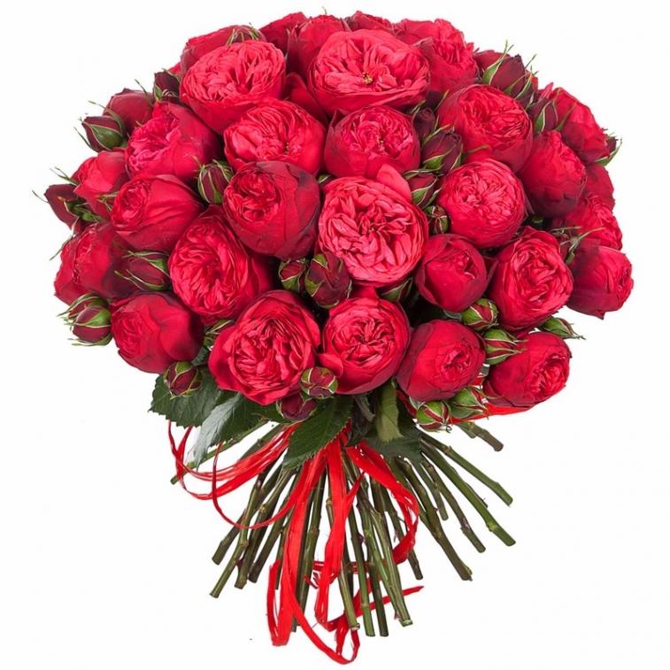 Купить пионовидные розы в москве, букет