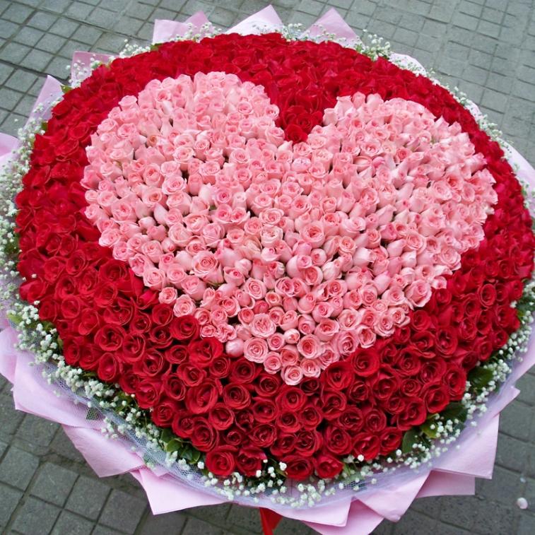 картинки сердца из больших букетов цветов