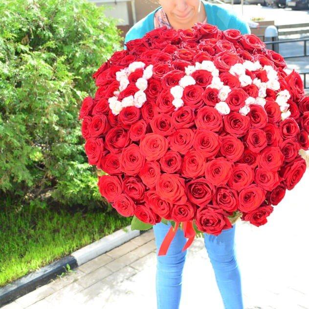 Интересные факты самый большой букет роз, букеты день рождение