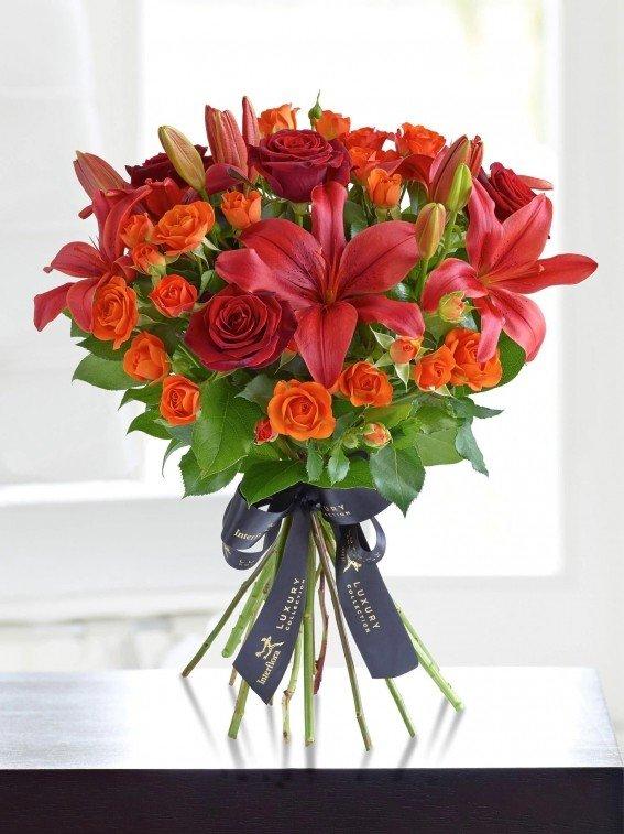 Цветы, букет невесты из рыжих лилий своими руками